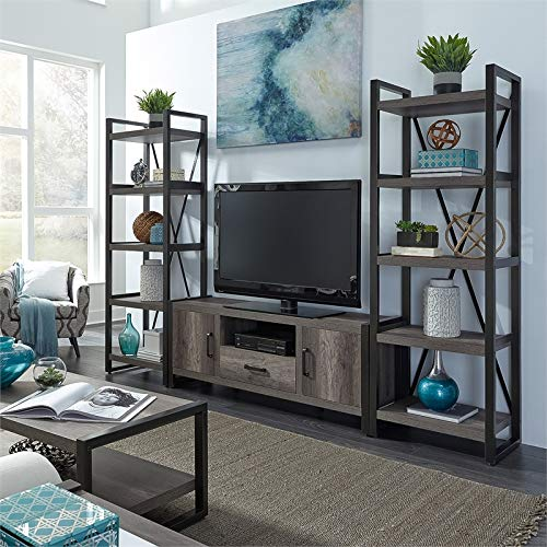 (Liberty Furniture Opt Entertainment Center w Piers )