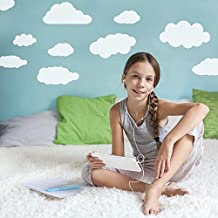 Supertogether White Clouds Repositionable Children's Wall Stickers - Pack of 26
