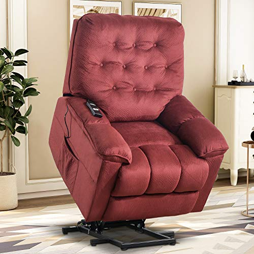 Lift Chairs for Elderly – Lift Chairs Recliners Lift Sofa Electric Recliner Chairs with Remote Control Soft Fabric Lounge