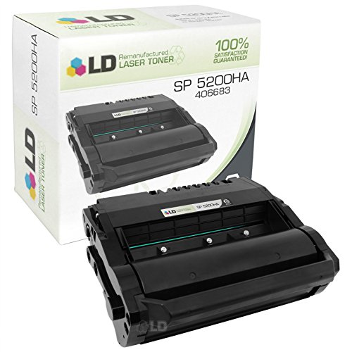 LD Remanufactured Toner Cartridge Replacement for Ricoh SP 5200HA 406683 (Black)