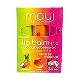 Maui Soap Company - Hawaiian Lip Balm, Tropical Flavors with SPF 15 Sun Protection (3 Pack) by Maui Soap Company