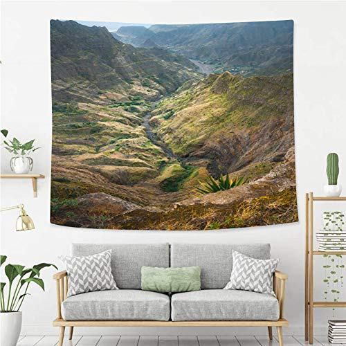 BEIVIVI Colorful Art Design Tapestry Breathtaking View from Delgadinho Mountain Ridge Santo Antao Cape Verde Wall Tapestry with Art Nature Home Decorations ()