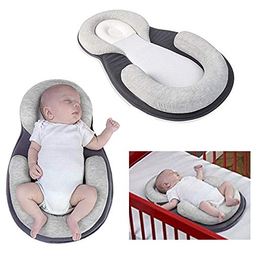XYTMY Portable U Shape Baby Bed Mattress Baby Sleep Memory Pillow for Newborn, Infant Flat Neck Head Syndrome Prevention Anti-Roll Crib Mattress for Travel ()