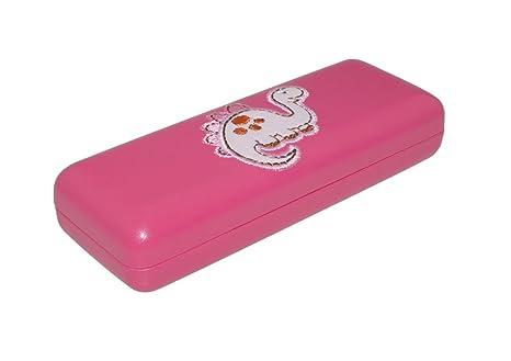 863aba4e62 MONA funda de gafas para niños - Diplo Dino - en verde o - Colour rosa