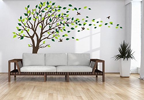 wall decal brown tree - 4