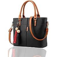 Fargo Flames PU Leather Women's Handbag With Hand Clutch Combo Of 2 (Black_FGO-161)