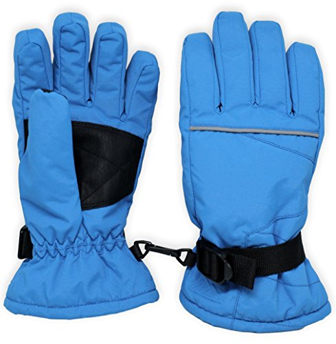 Kids Winter Snow & Ski Gloves - Youth Gloves Designed for Skiing, Snowboarding, Shoveling - Waterproof, Windproof Thermal Shell & Synthetic Leather Palm - Fits Toddlers, Junior Boys and Girls (Girls Winter Gloves)
