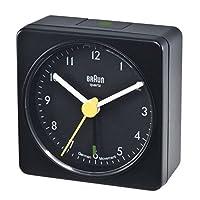 Braun Square Analog Travel Alarm Clock b...