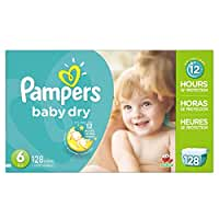 Pampers\x20Baby\x20Dry\x20Diapers\x20Size\x206,\x20128\x20Count