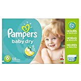 #1: Pampers Baby Dry Diapers Size 6, 128 Count
