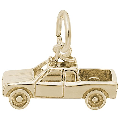 Gold Plated Pick Up Truck Charm, Charms for Bracelets and - Charm Plated Truck Gold