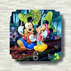 Mickey Mouse Clubhouse 11'' Handmade MAGIC WALL CLOCK FOR DISNEY FANS made of acrylic glass - Get unique décor for home or office – Best gift ideas for kids, friends, parents and your soul mates
