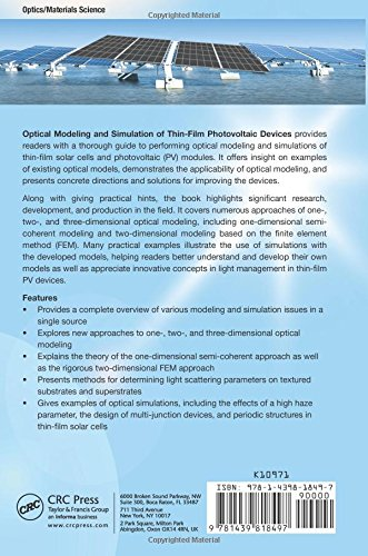 e-book Optical Modeling and Simulation of Thin-Film Photovoltaic Devices