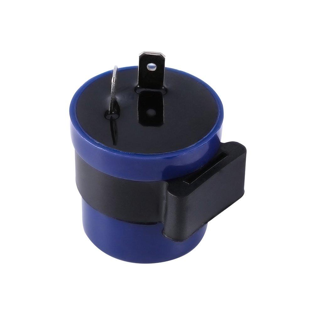 Yosoo 2 Pin Moto Relais clignotant en couleur Bleu 6-12 V