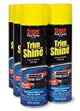Stoner Car Care 91034-6PK Trim Shine Protectant - 12-Ounce Aerosol Can - Case of 66 is engineered to instantly brighten and rejuvenate dull or faded plastic, vinyl, and rubber. The long lasting formula not only restores color and shine it als...
