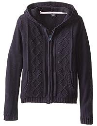 U.S. Polo Association  Little Girls'  Sweater Jacket with Hood