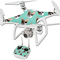 Skin For DJI Phantom 4 Quadcopter Drone – Cool Corgi | MightySkins Protective, Durable, and Unique Vinyl Decal wrap cover | Easy To Apply, Remove, and Change Styles | Made in the USA