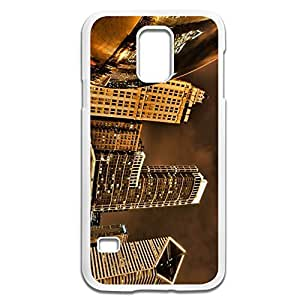 Samsung Galaxy S5 Cases Night City HDR Design Hard Back Cover Shell Desgined By RRG2G