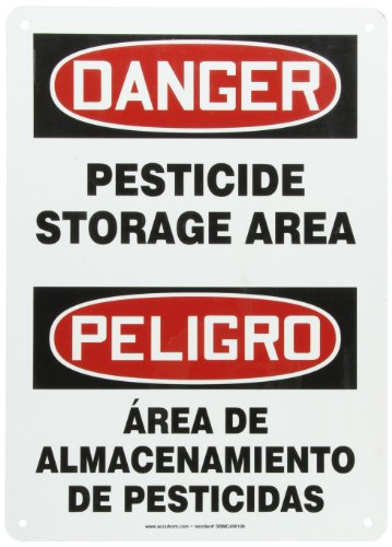 Accuform SBMCAW109VA Aluminum Spanish Bilingual Sign, Legend
