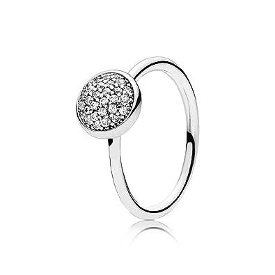 Amazoncom Pandora Dazzling Droplet Ring Clear Cz 6 Us 52 Euro