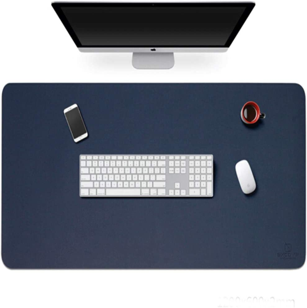 Leather Waterproof Mouse Pad//Mat Multi-Size Cardboard and Mat for Office Home Desk Computer Essential 8haowenju Desk Mat Blue//Black Leather Desktop Mouse Pad Waterproof Desk Pad Protector