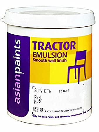 Asian Paint Tractor Emulision In White Colour 4 Ltr Amazon In Home Improvement