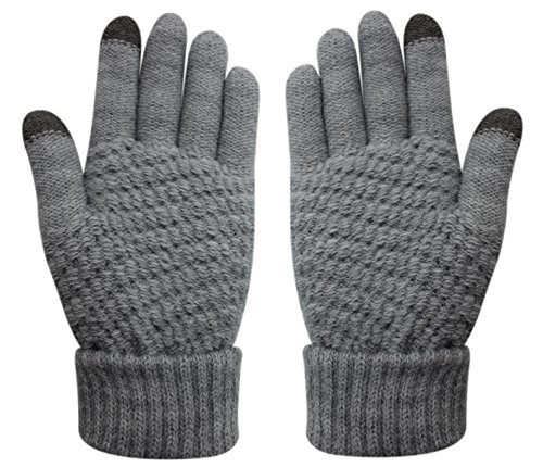 Glove us Knitted Touch Screen Gloves Warm Winter Thick Mittens Texting Unisex for iPhone Smart phones Laptop Tablet