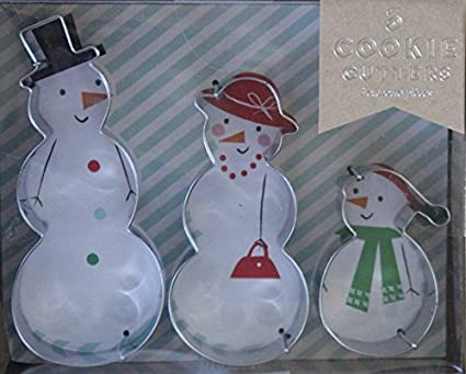 Amazon Com Meri Meri 3 Snowmen Cookie Cutters 4 1 4 3 1 2 And