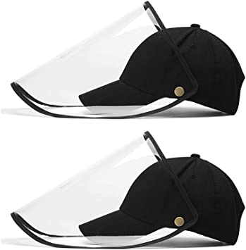 2 PCS Anti-fog Empty Top Cap Full Face Splash proof Face Protective shield Hat