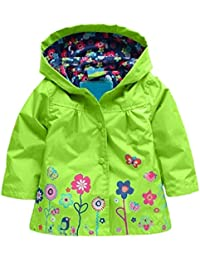 Girl Baby Kid Waterproof Hooded Coat Jacket Outwear...