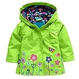 Arshiner Girl Baby Kid Waterproof Hooded Coat Jacket Outwear Raincoat Hoodies 2-6 Y