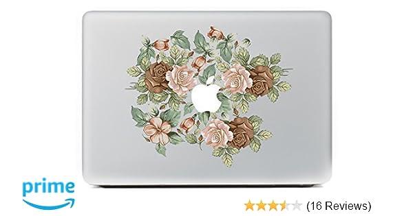 Mac macbook laptop vinyl decal sticker Flower