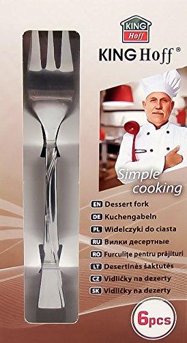 Dessert fourchettes /à dessert P/âtisserie Acier inoxydable Lot de 6/fourchettes