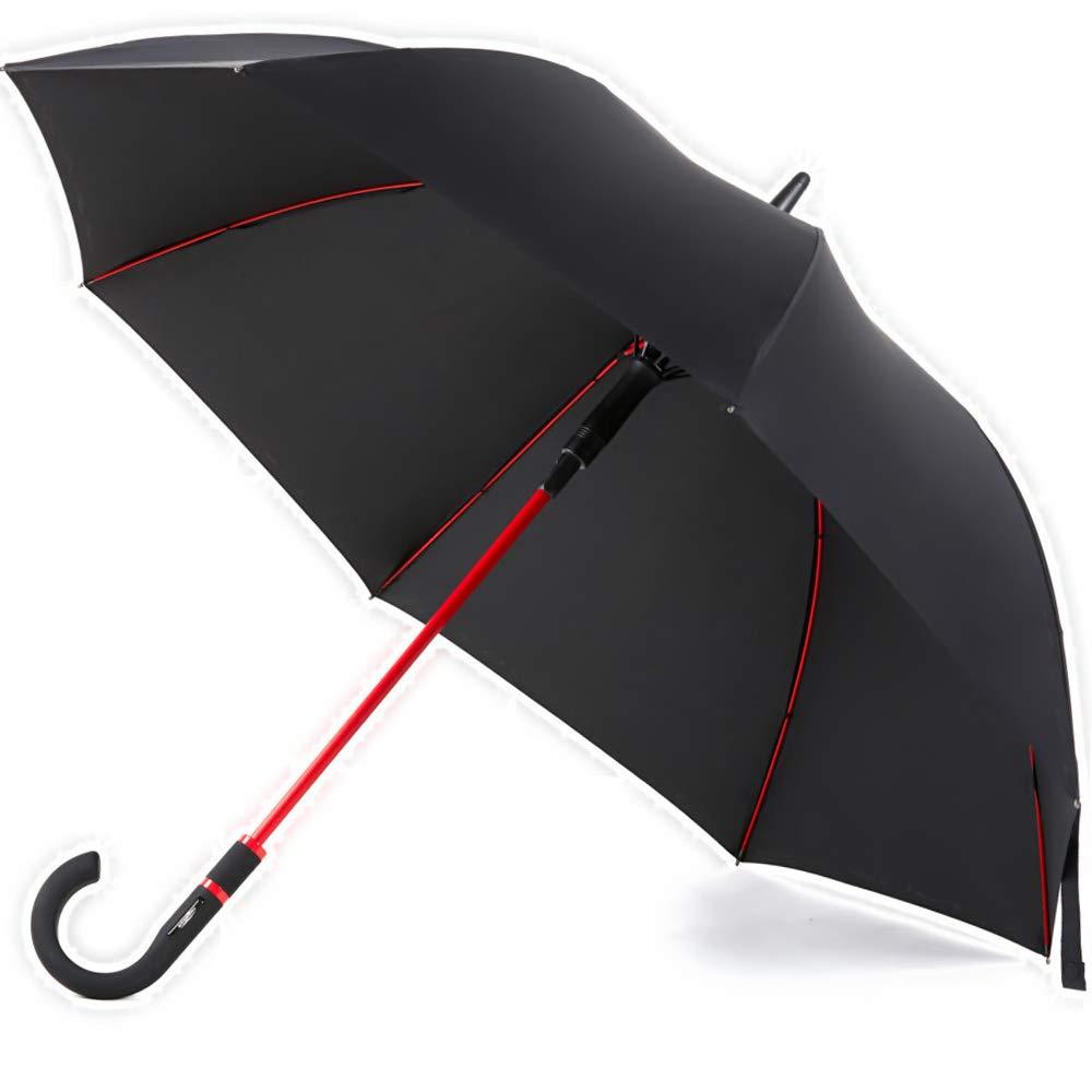 Paraguas a prueba de viento tamaño de viaje paraguas de lluvia unisex Auto abierto ligero impermeable Paraguas grande de palo para hombres y mujeres reforzado marco a prueba de viento a prueba de desl Windproof Travel Umbrella
