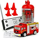 zip zaps starter kit - E-SCENERY Mini 4in Remote Control Rescue Fire Engine Truck, RC Engineering Car Toy For Kids Christmas Gift (Water tank)