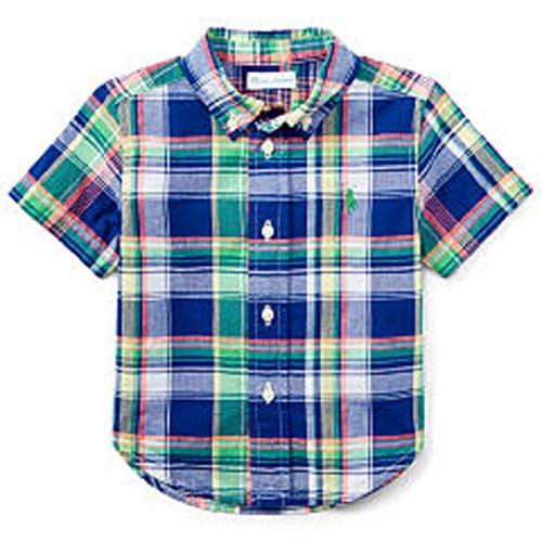 Ralph Lauren Short-Sleeve Madras Plaid - Polo Buy Lauren Ralph