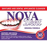Novadent Original + FREE soaking bath | Dentures and dental appliances cleanser | 1 year (52 sachets)