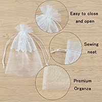 72919cc5afcd VU100 Lace Flower Organza Bags/Pouches with Drawstrings, Premium Wedding  Party Favor Jewelry Gift Bags, for Bridal Shower Candy Clothes Sachet  Storage ...