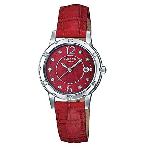 Casio Sheen Red Dial Women's Watch SHE4021L-4A