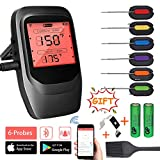 VISTION Bluetooth Cooking Thermometer for Grill, Digital Wireless Meat Thermometer with 6 Probes