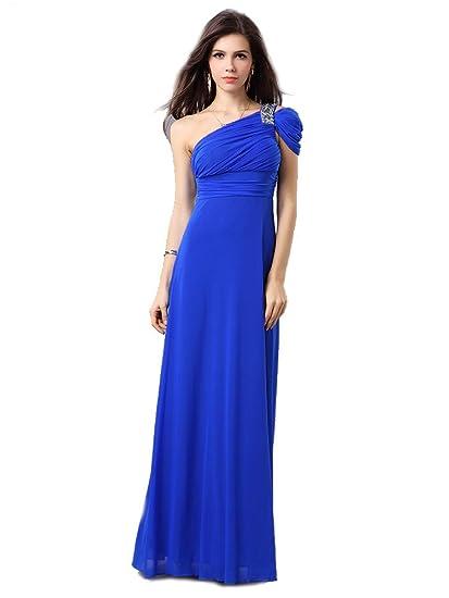 Beautiful Femine Full Length Spandex Evening Dress Uk Next Day