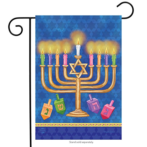 Briarwood Lane Happy Hanukkah Garden Flag Holiday Menorah 12