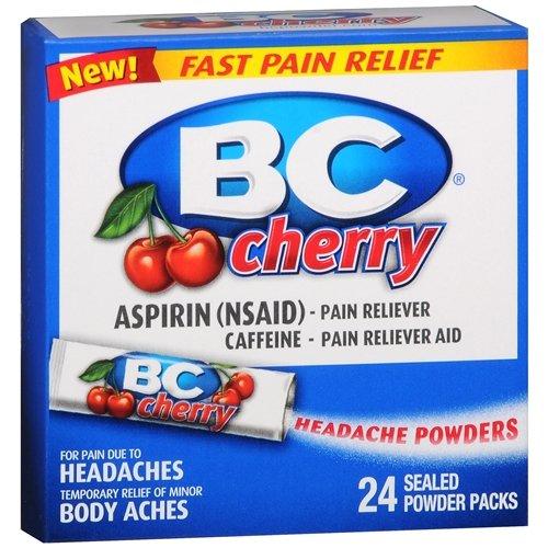 BC Headache Powders, Cherry 24 ea Pack of 2 (Aspirin Cherry)