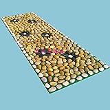 WE&ZHE Stone Mat / Cobblestone / Massage Pad / Massage Blanket / Pebble Foot Massage Pad / Foot Massage (40 150 Cm)
