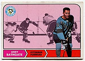 1968/69 Topps Andy Bathgate Card #104 Pittsburgh Penguins