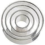 Ateco 4-Piece Stainless Steel Round Cutter Set