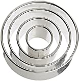 Ateco 4 Piece Stainless Steel Round Cutter Set