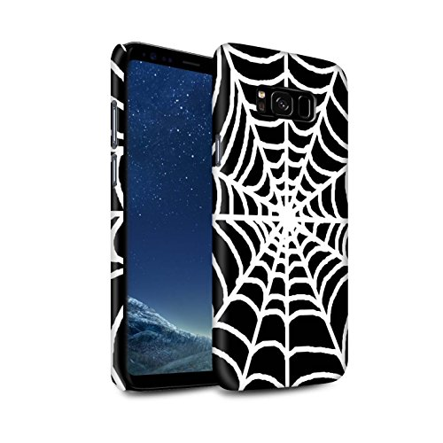 STUFF4 Matte Hard Back Snap-On Phone Case for Samsung Galaxy S8 Plus/G955 / Spider Web Design / Black Fashion Collection