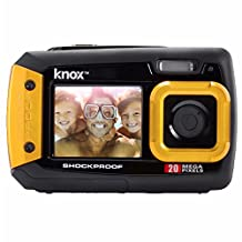 Knox Dual-Screen 20MP Rugged Waterproof Digital Camera (Yellow)