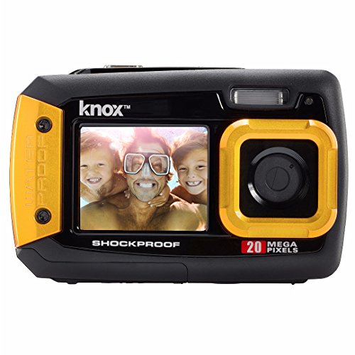 Knox Dual-Screen 20MP Rugged Underwater Digital Camera with Video (Yellow)